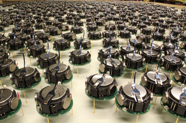 A Thousand Kilobots Self-Assemble Into Complex Shapes